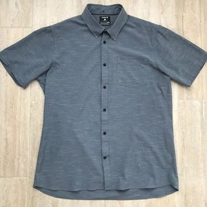 Blue L Hurley Nike Dri Fit button up casual shirt